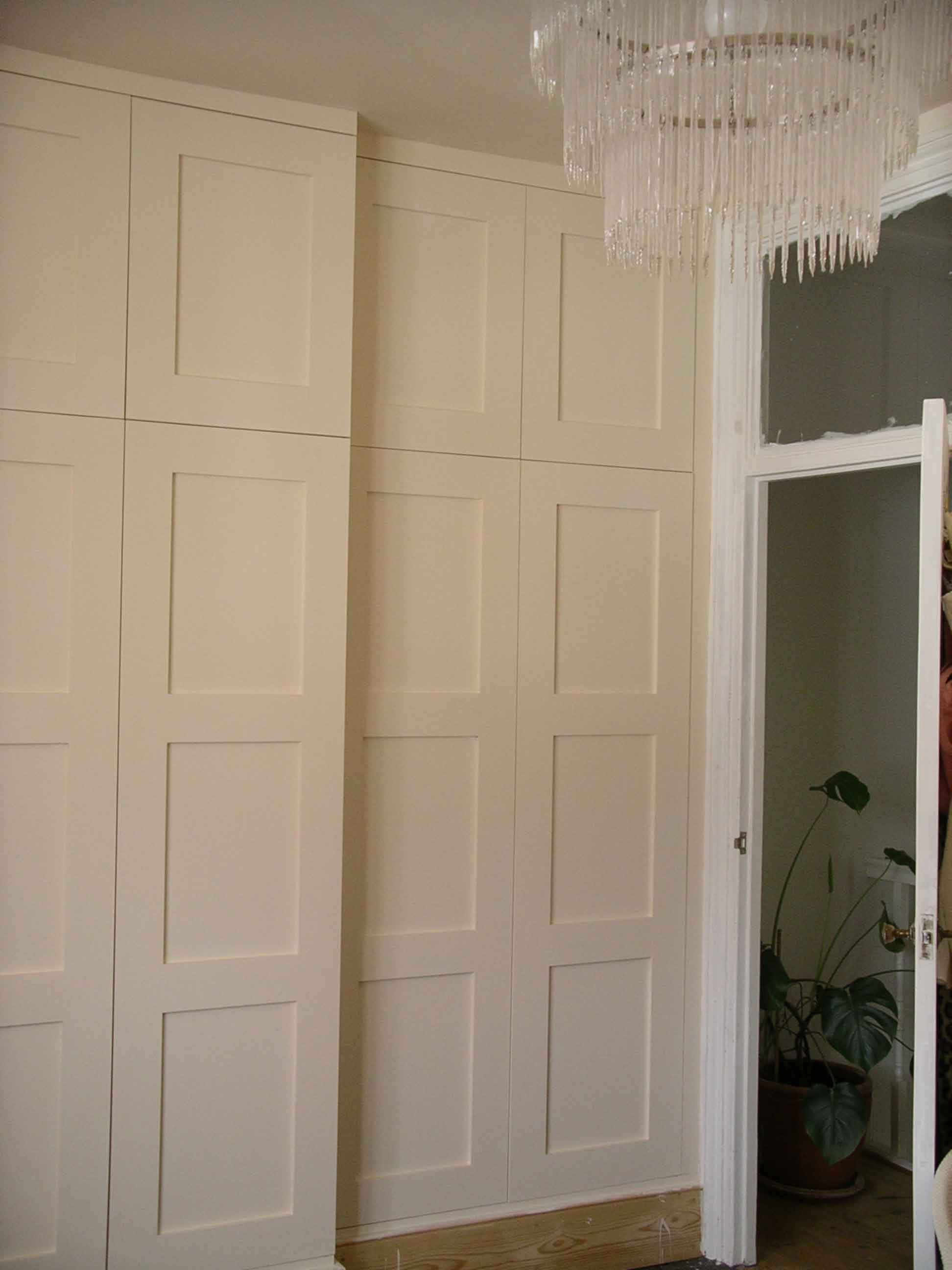 made to measure wardrobe with panelled doors