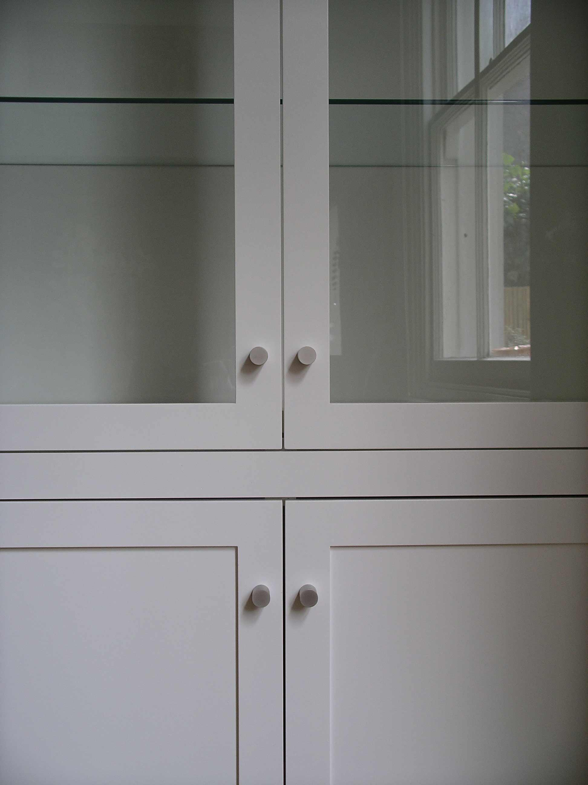 modern style doors bespoke made for fitted cupboard