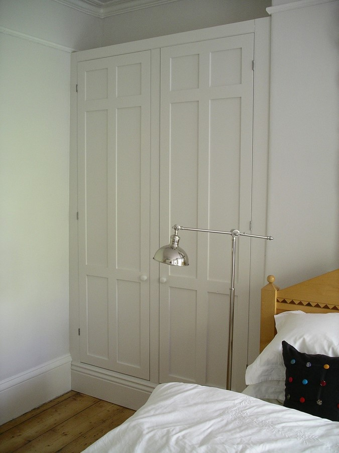 built in alcove bedroom storage cupboard custom made in traditional style