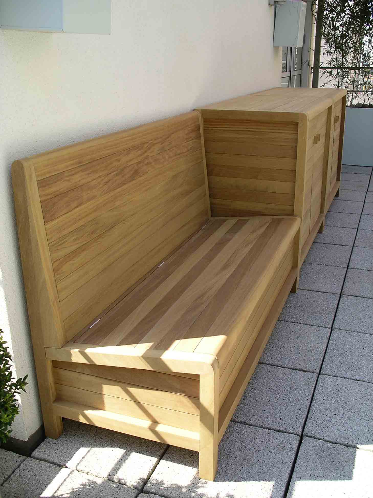 hardwood weather proof garden furniture bespoke made