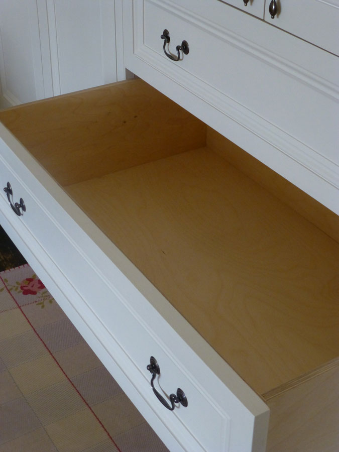 birch plywood drawer custom made