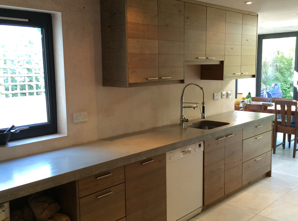 bespoke concrete worktop kitchen