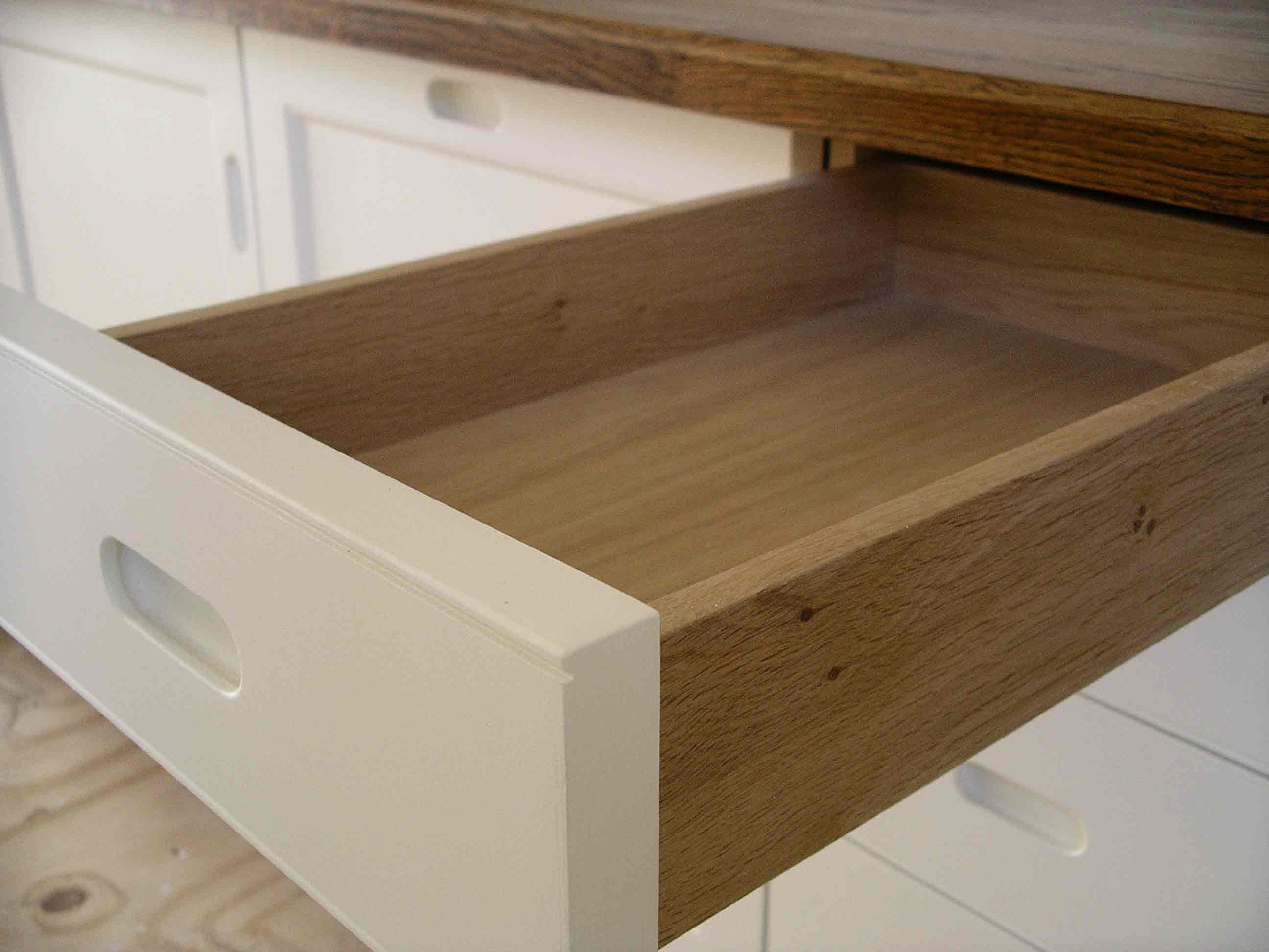 solid oak drawer