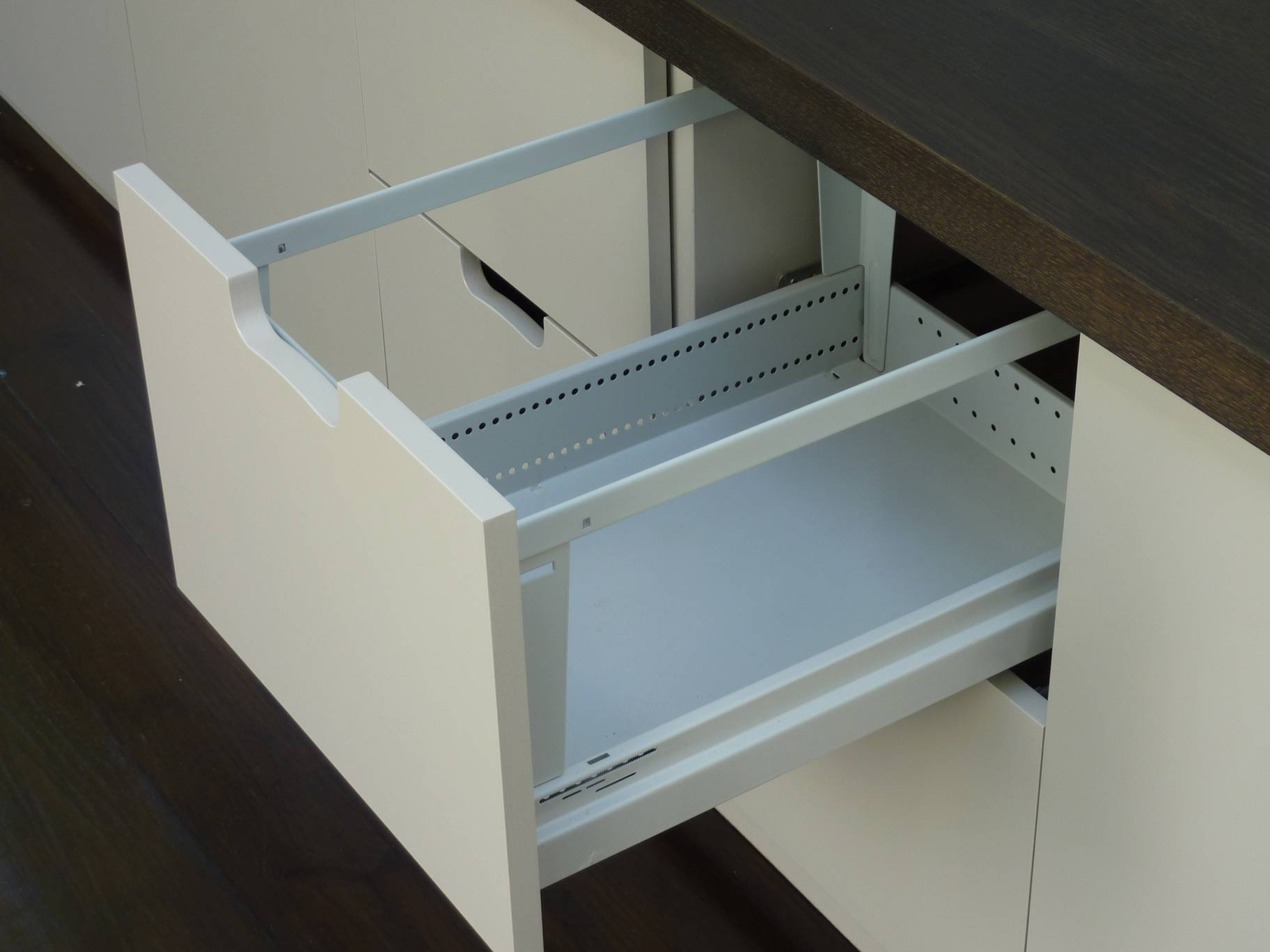 bespoke hanging file drawer for A4 files