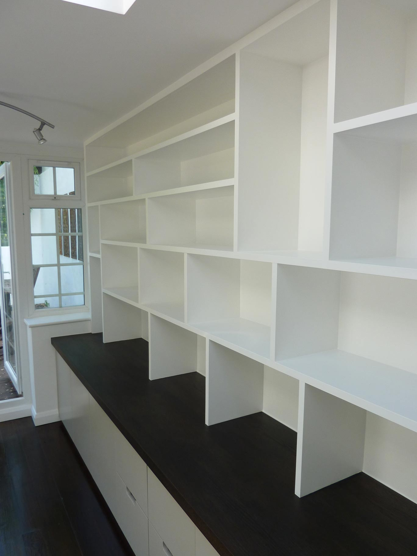fitted bookcase for home study