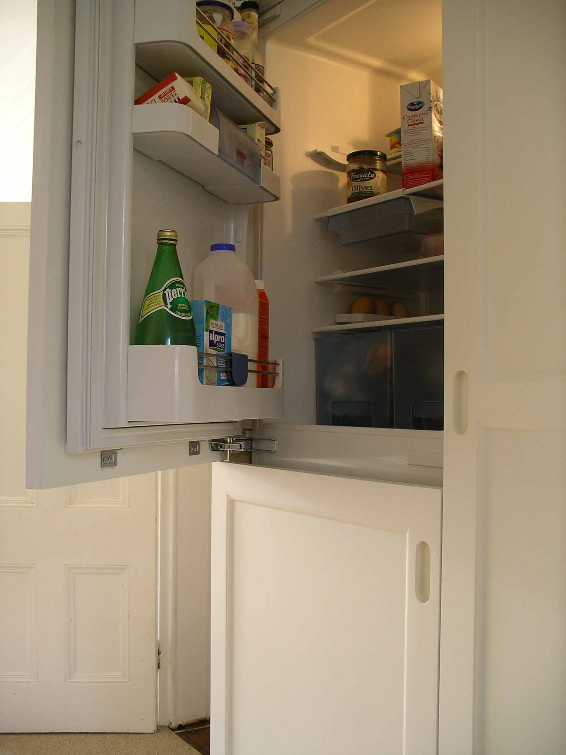 bespoke kitchen with integrated fridge