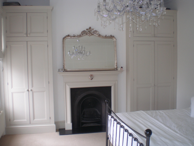 bespoke alcove wardrobes hand painted