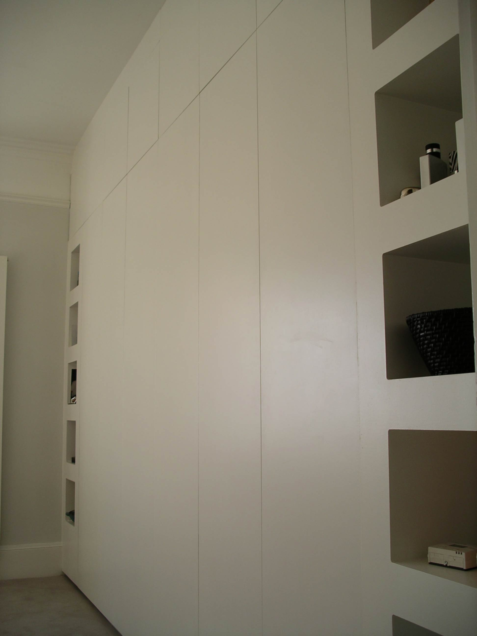 built in cupboard with contemporary design