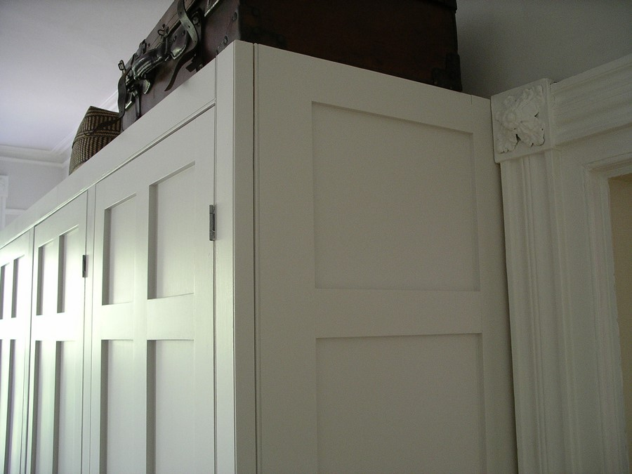 bespoke panelled door design for vintage style fitted wardrobe