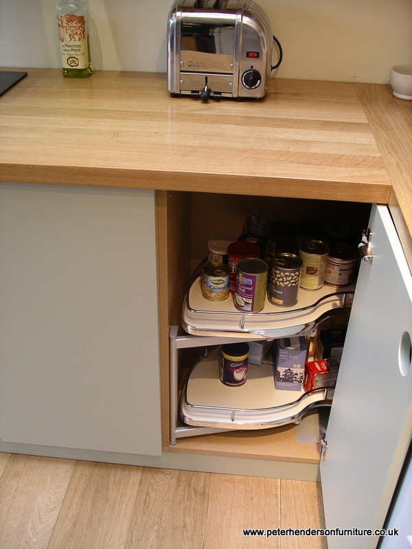 kitchen corner cabinet with pull-out storage unit