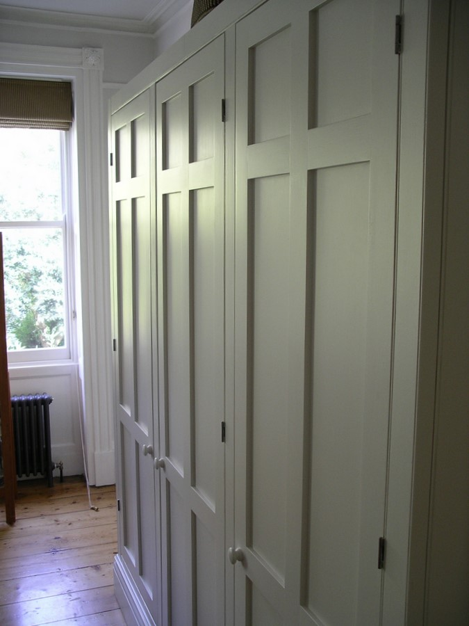 custom made period style wardobe with panelled doors