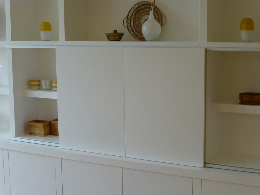sliding doors on home entertainment unit