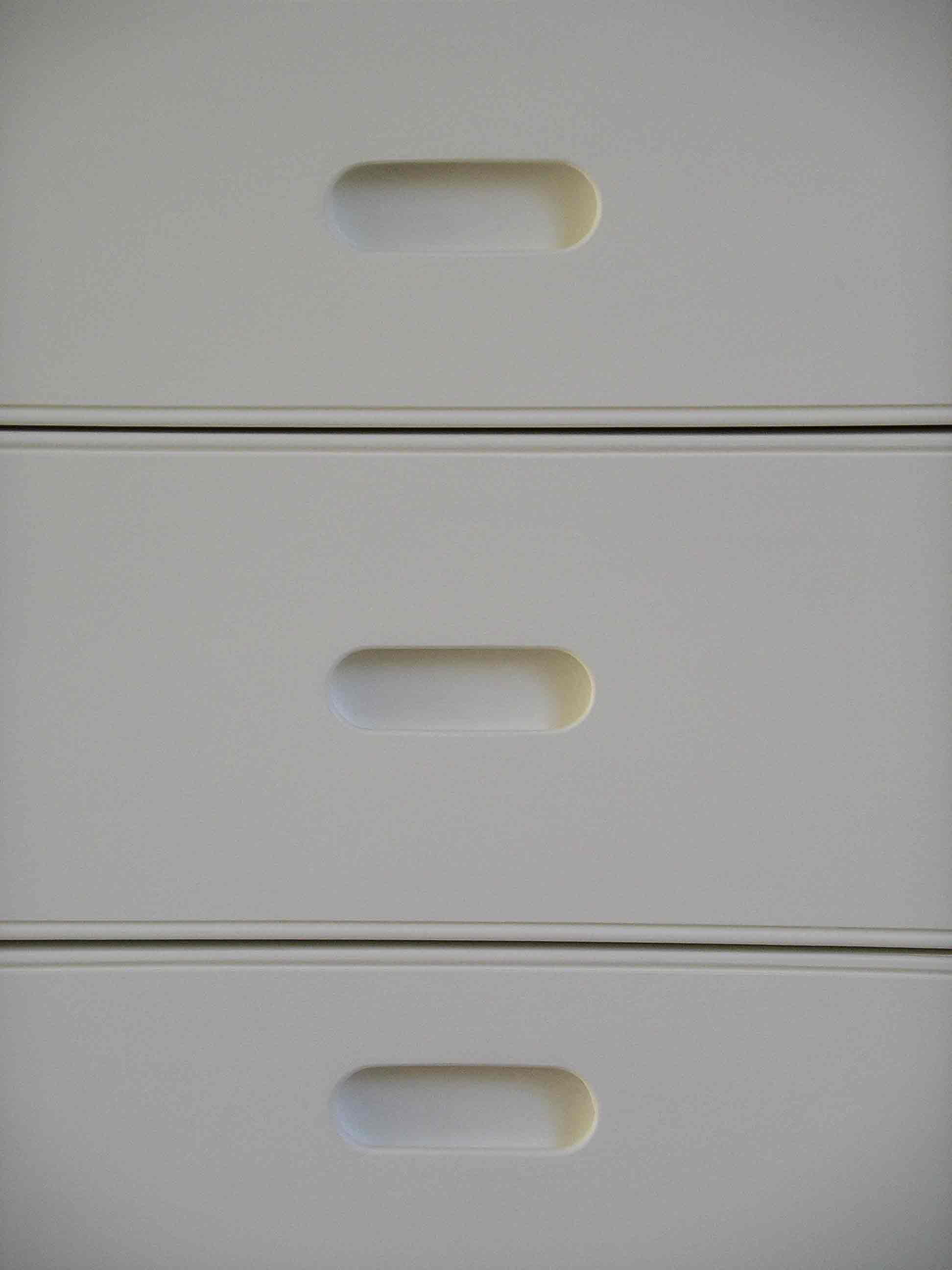 handmade kitchen drawers with integral inset handles
