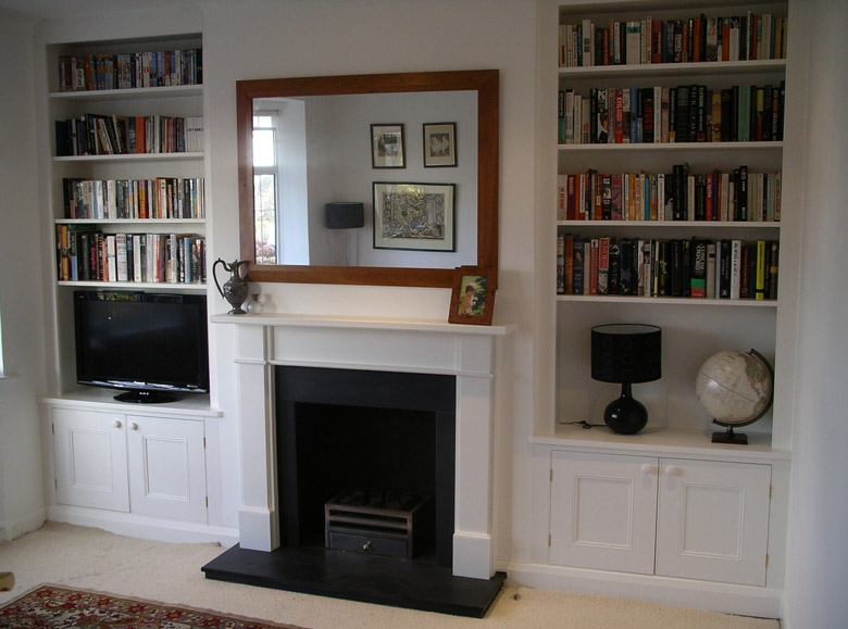purpose built traditional fitted alcove cupboard