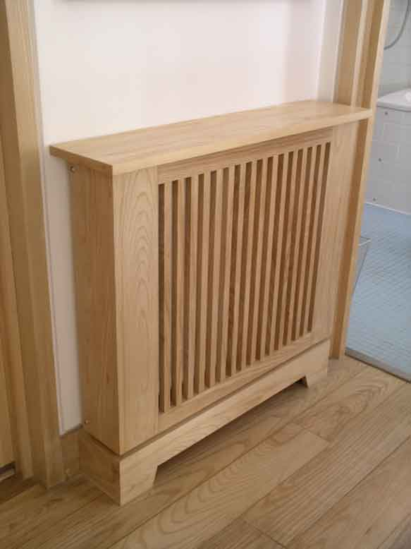 handmade radiator cabinet in solid ash