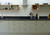 hand built painted kitchen
