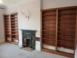 bespoke bookcase built in mahogany for a home study