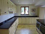 bespoke painted Shaker style fitted kitchen