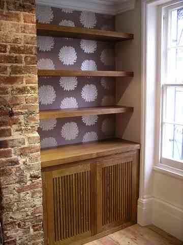 custom made hifi cabinet in solid oak