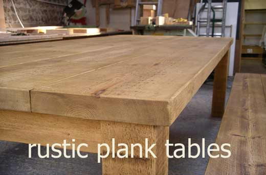 rustic plank tables